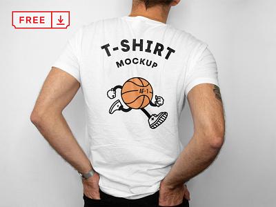 Free T Shirt Back Mockup font print logo illustration design typography branding t-shirt psd free download