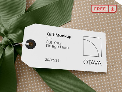 Free Gift Mockup design mockup print mockups font typography template tag gift psd free download