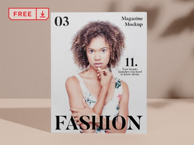 Free Magazine Cover PSD Mockup cover magazine design mockup font print logo template typography psd freebie free download