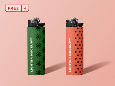 Free Lighter Mockup typography template design logo lighter branding identity psd free download