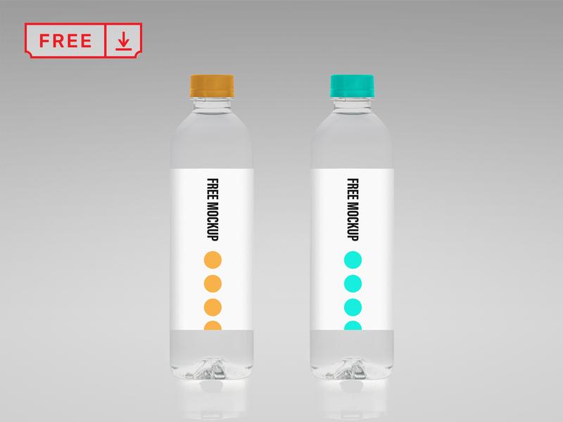Free Water Bottle Mockup design typography template mockups logo identity branding bottle psd free download