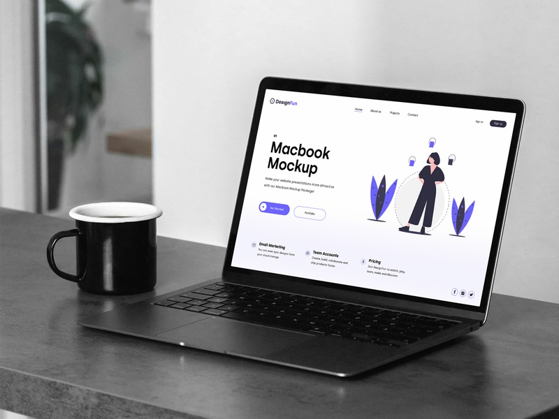 MacBook Pro Mockups PSD Scenes icon mockup bundle mockups design identity branding webdesign website macbookpro psd download