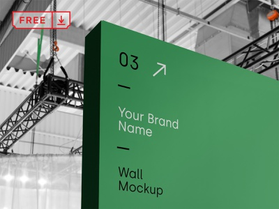 Free Wall Mockup mockup stationery illustration typography design identity branding wall psd free download
