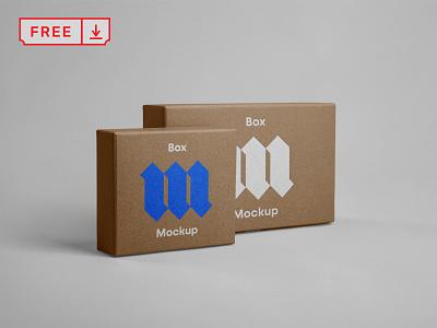 Free Front Box Mockups mockup print logo design branding identity paper box front psd free download