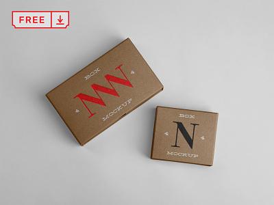 Free Paper Box Mockups typography mockup design print logo branding identity box paper psd free download