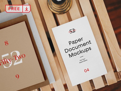 Free Paper Document Mockups mockup stationery design template typography branding paper document identity psd free download