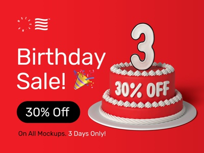 Birthday SALE! 🎉 design branding bundle illustration stationery typography logo template psd sale download