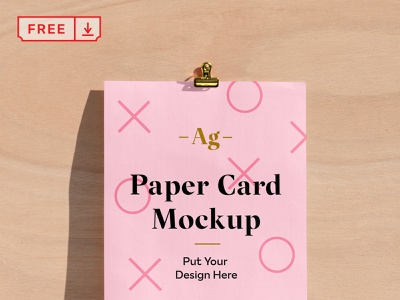 Free Paper Card PSD Mockup font typography mockups illustration design print template paper card psd download free