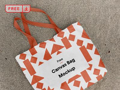 Free Cotton Canvas Bag Mockup print typography mockups design branding identity cotton bag canvas psd free download