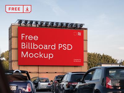 Free Bilboard PSD Mockup mockup design print template typography branding identity billboard psd free download