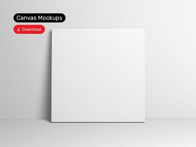 Canvas Mockups PSD Scenes bundle mockup design template illustration art poster canvas psd download