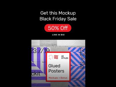 Glued Poster Mockups glued poster stationery identity bundle canvas artwork branding download template illustration typography print mockups psd