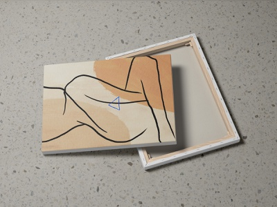 Canvas Mockups PSD Scenes bundle illustration mockups design print art canvas template identity psd download