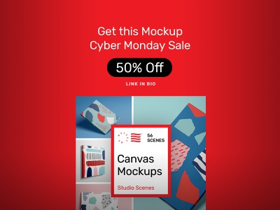 Canvas Mockups PSD Scenes font mockups bundle print illustration design template art canvas psd download