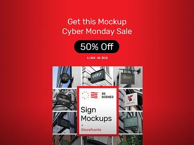 Sign Mockups PSD Scenes icon mockups typography bundle design storefront sign branding identity psd download