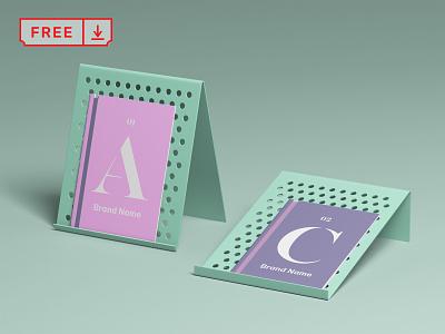 Free Brochure Display Mockup stationery illustration mockup logo print design typography template free psd download