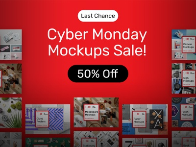 Cyber Monday Sale! pin patch sign moodboard poster canvas paper icon mockups design bundle template psd branding identity stationery download