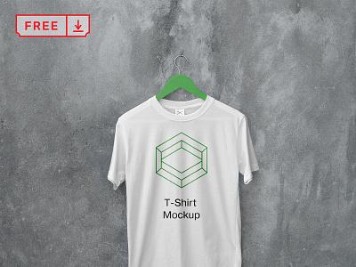 Free White Hanging T Shirt Mockup mockup typography illustration design logo branding identity t-shirt free psd download