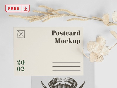 A5 Postcard with Envelope Mockup illustration mockup design print template typography envelope postcard stationery psd free download