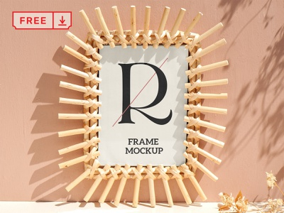 Bamboo Frame Mockup mockup font illustration frame print design identity typography psd free download