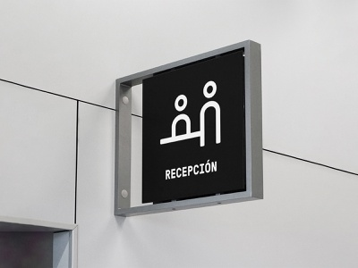 Free Indoor Sign Mockup logo template wayfinding sign mockup design typography branding identity psd download