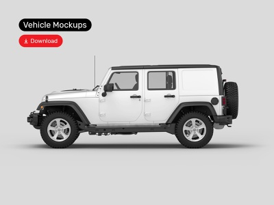 Vehicle Mockups Premade Scene jeep logotype logo mockups mockup bundle design branding identity vehicle psd download