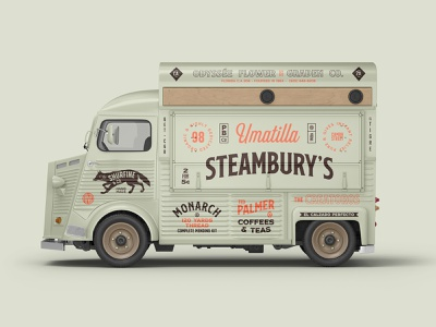 Vehicle Mockups Premade Scene foodtruck vehicle car mockups mockup font design template logo branding identity psd download