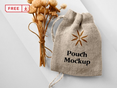 Free Small Pouch Mockup icon mockup font logo design identity pouch free branding psd download