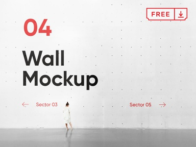 Free Concrete Wall PSD Mockup concrete mural wayfinding identity mockup design font typography branding wall psd free download