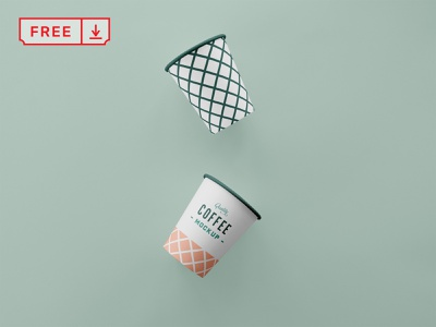 Free Simple Coffee Cup Mockup cafeteria cafe logo café print mockup logo typography design branding identity psd download coffee cup free