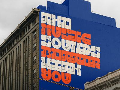 Free Mural PSD Mockup building wall mural mockup design typography branding identity free download