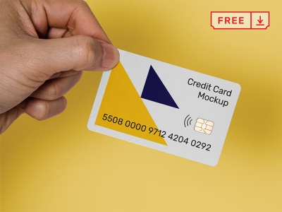 Free Credit Card Mockup typography design psd identity creditcard paycard download free