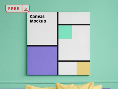 Free Canvas Square Mockup free poster