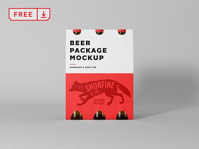 Free Beer Package Mockup design logo beer free psd identity branding download