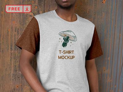 Free Front T-Shirt Mockup freebie free design logo typography branding t-shirt identity psd download