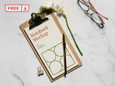 Free Cards with Flower PSD Mockup freebie free stationery illustration logo design template typography branding identity psd download card