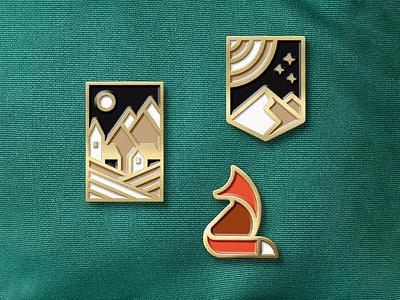 Logo Enamel Pin Mockup identity