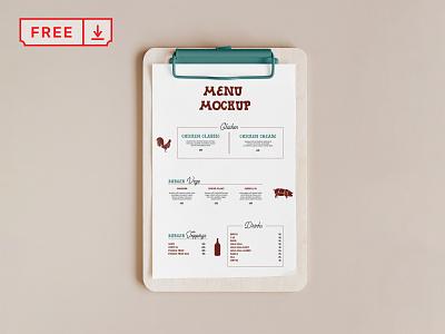 Free Menu Card Mockup mockup freebie free menu restaurant design logo template typography branding identity psd download