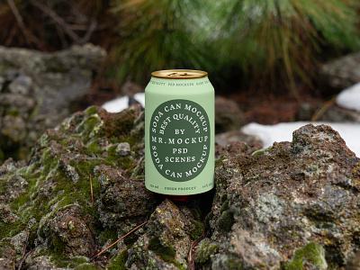Can Mockups PSD Scenes mockups mockup beer beverages can design logo template typography branding identity psd download