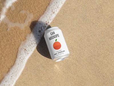 Can Mockups PSD Scenes mockups mockup can beer beverages design logo template typography branding identity psd download