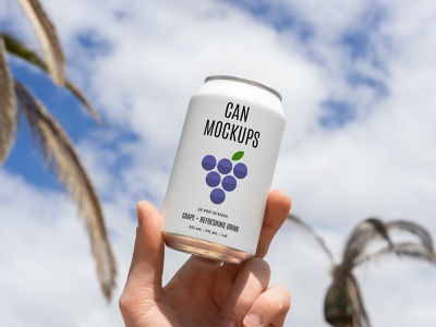 Can Mockups PSD Scenes beverages beer can mockups mockup design logo template typography branding identity psd download