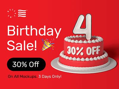 Birthday SALE! 🎉 bundle mockup mockups birthday sale illustration design logo template typography psd branding identity download