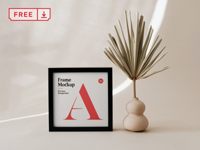 Free Small Poster Frame Mockup freebie free mockup poster frame illustration design logo template typography branding psd identity download
