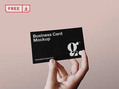 Free Business Card with Hand Mockup corporate free freebie