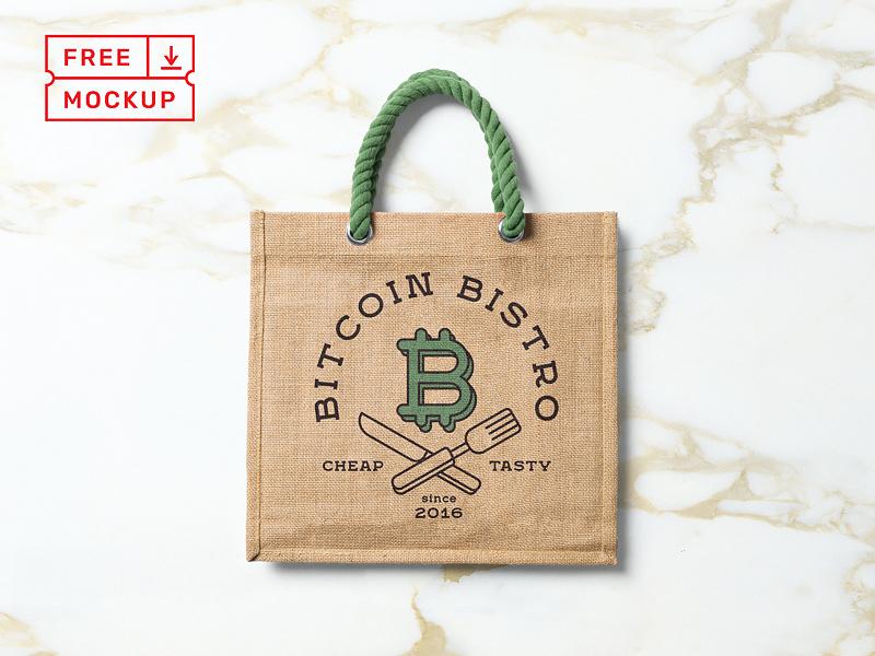 Free PSD Bag Mockup