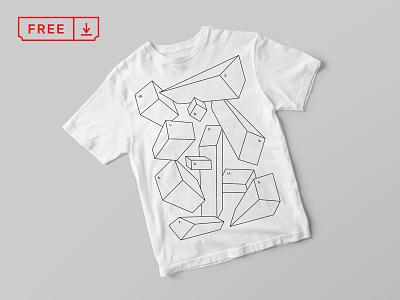 Free T-Shirt Mockup font typography template stationery print mockups apparel identity freebie psd download branding
