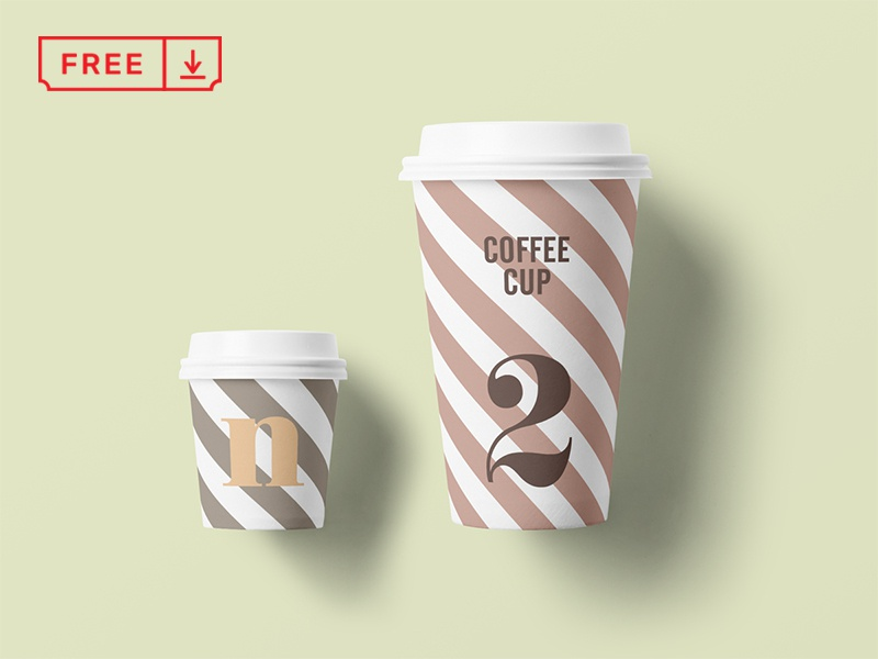 Free Paper Cup Mockup
