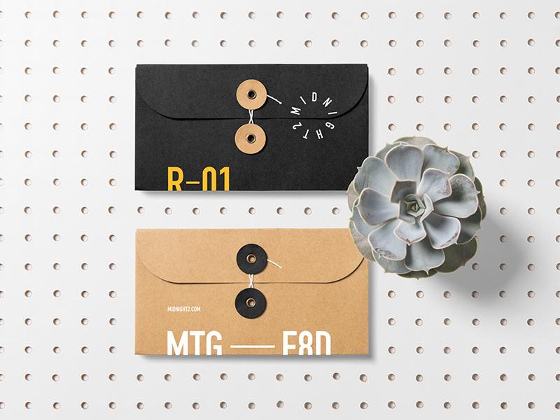 Envelopes Mockups Premade Scene identity plant psd bundle logo branding stationery template mockup letterhead envelope download