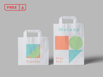 Paper Bag Psd Mockup branding paperbags download free freebie identity mockups psd stationery typography paper bags