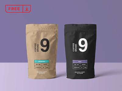 Paper Coffee Bag Mockup bag coffee design mockup logo typography branding download free freebie identity mockups psd stationery cover font